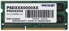 Patriot PSD34G160081S RTL PC3-12800 CL11 SO-DIMM 204-pin 1.5В
